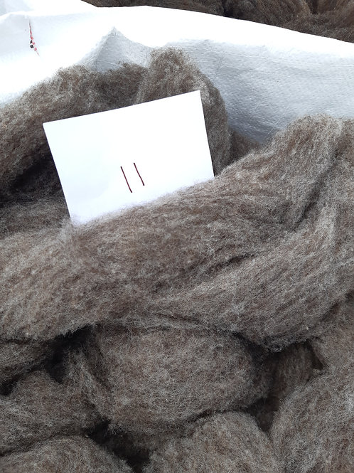 11 - 200g Pure British Ryeland/Romney/Alpaca Mix Medium Grey Sliver