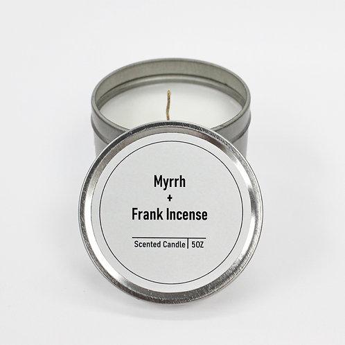Myrrh & Frank Incense Scented 5oz Tin Candle