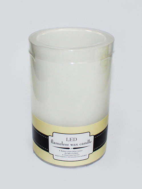 """4"""" x 6"""" LED flameless wax candle"""