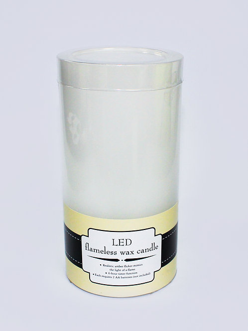 """3"""" x 8"""" LED flameless wax candle"""