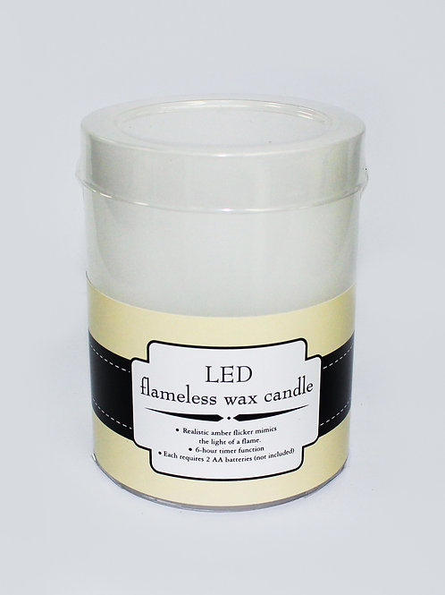"""3"""" x 4"""" LED flameless wax candle"""