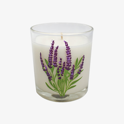 10 oz. Spring Flower Glass Candle
