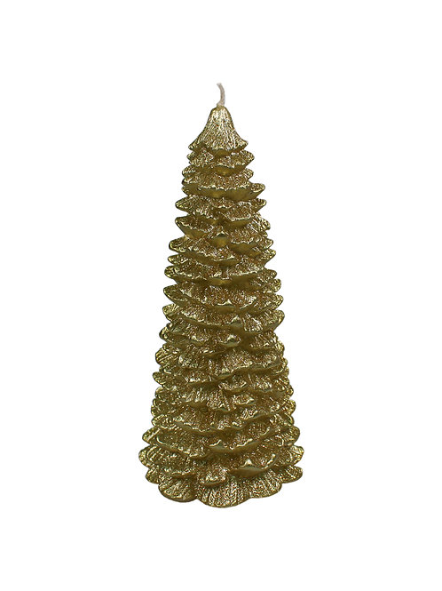 Gold Metallic Tree Candle