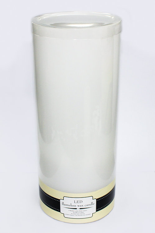"""5"""" x 12"""" LED flameless wax candle"""