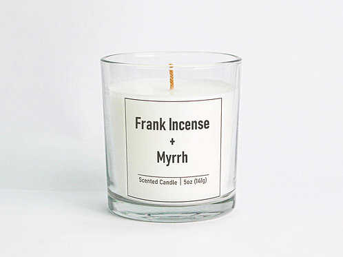 Frankincense & Myrrh Scented Candle