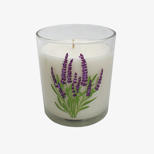 5.5 oz. Spring Flower Glass Candle