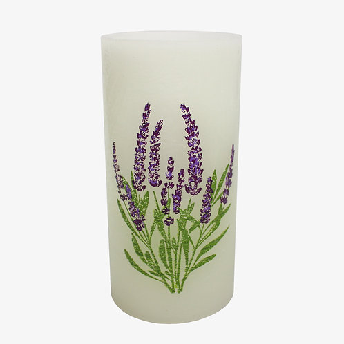"""2.875"""" x 6"""" LED flameless spring flower candle"""
