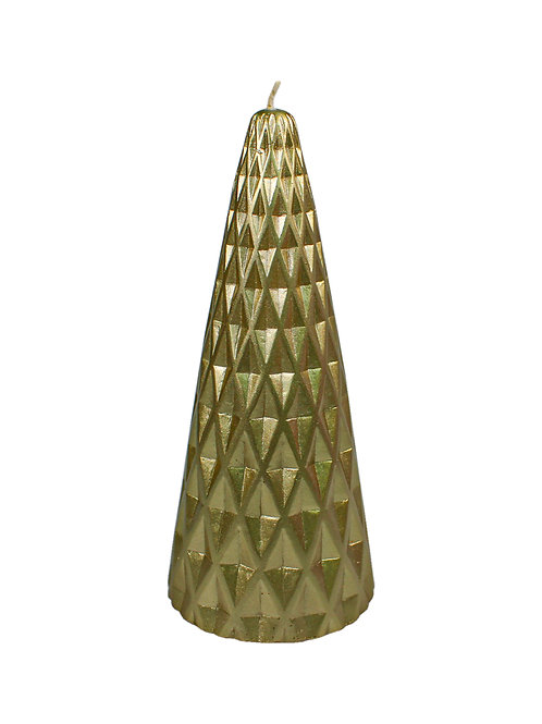 Gold Metallic Tree Candle