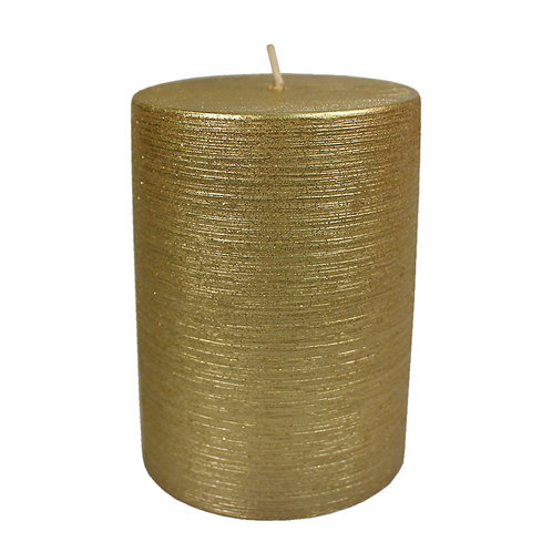 Gold Metallic Pillar Candle