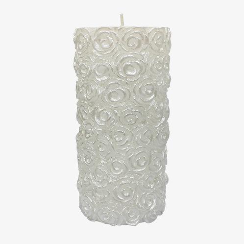 Wedding Rose Pillar Candle