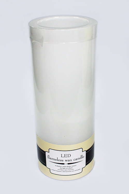 """4"""" x 10"""" LED flameless wax candle"""