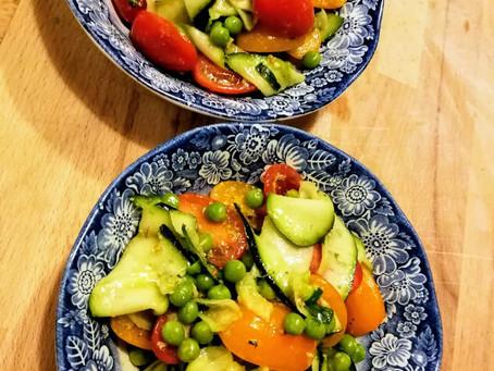 Quick salad met pesto