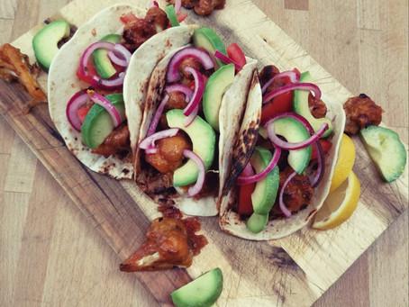 Vegan bloemkool taco