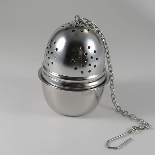 Georgian Tea Egg with Drip Tray 18/8 SS Infuser
