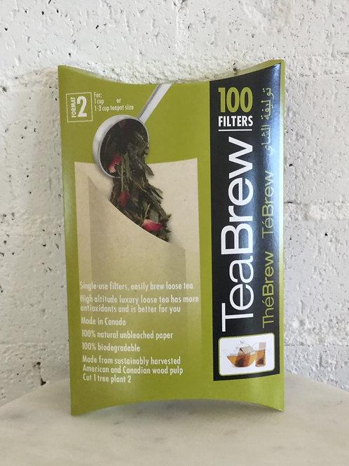 "biodegradable ""Tea Sac"" box 100"