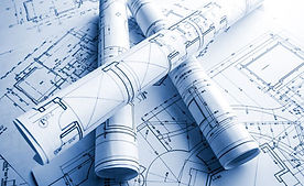 Architectural plans for construction