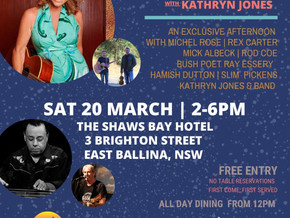 Local Event - Kathryn Jones playing on Sat 20th March
