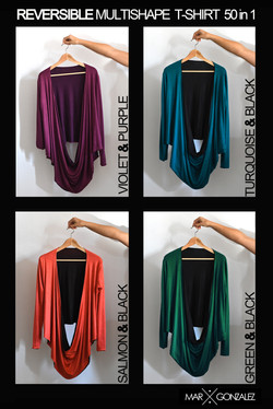 REVERSIBLE Multishape T-shirt colours