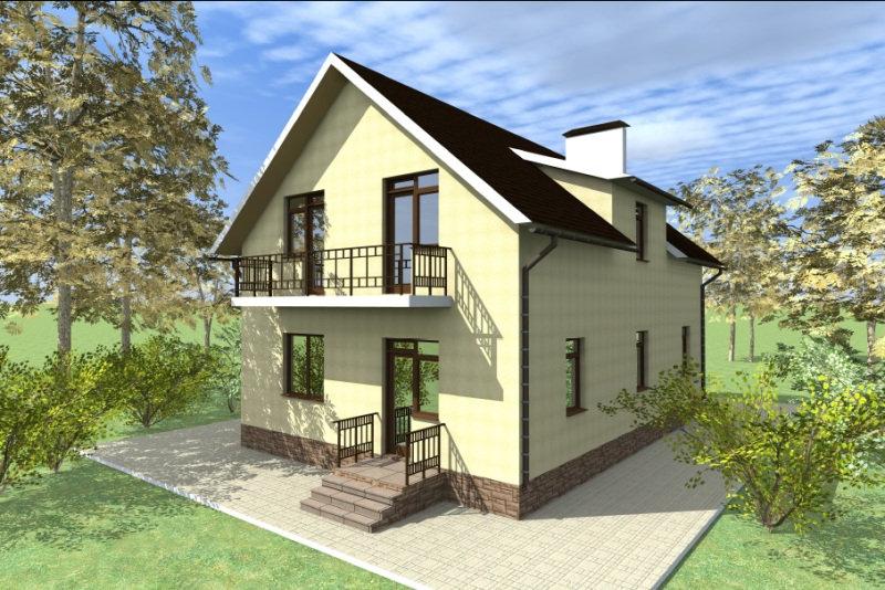 Двухэтажный жилой дом 0334