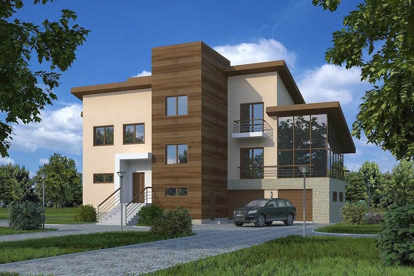 Проект жилого дома 0032 визуализация