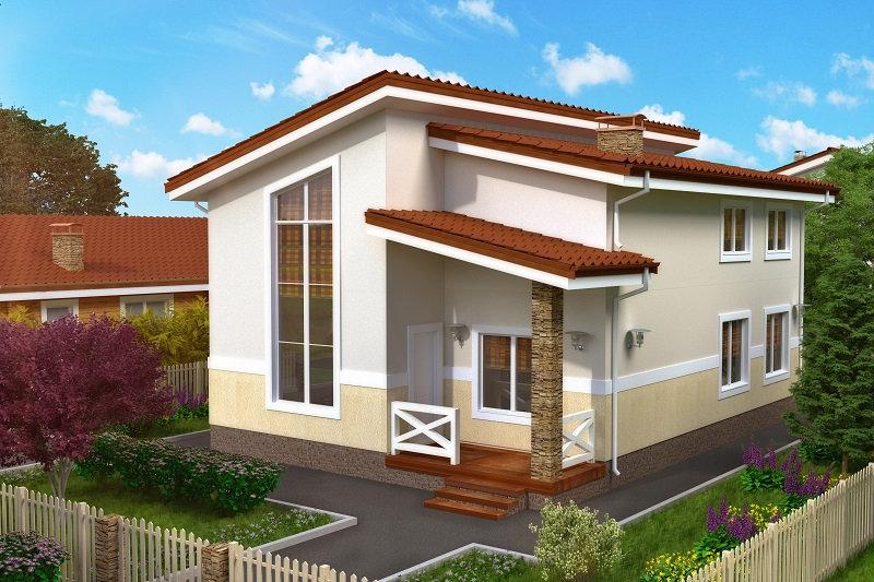 Двухэтажный жилой дом 0398
