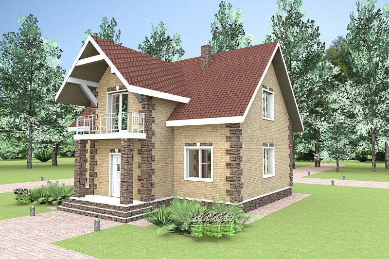 Жилой дом с мансардой 0330