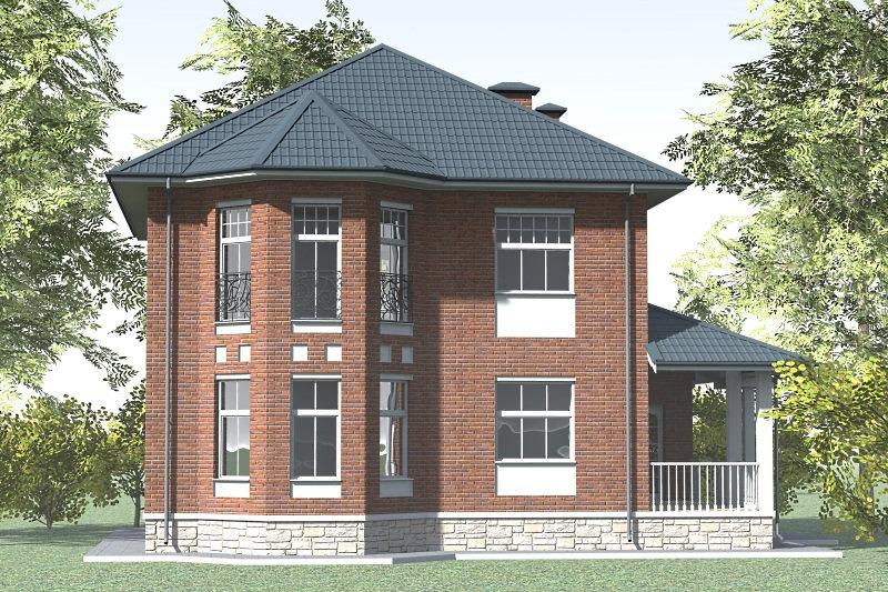 Двухэтажный жилой дом 0338