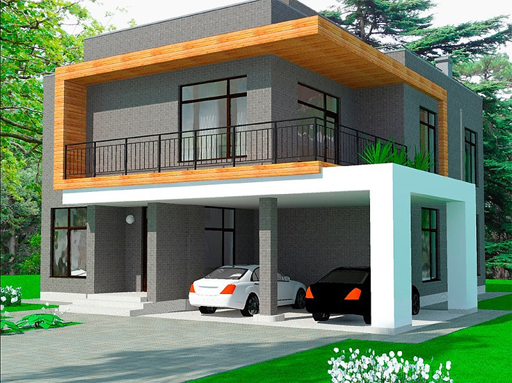 Проект трехэтажного жилого дома 0192