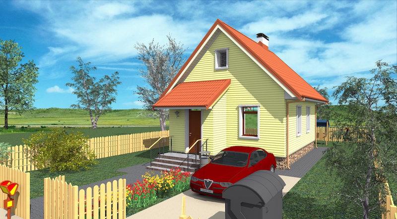 Проект дачного дома 0347