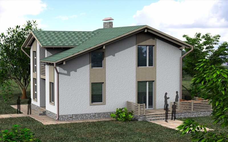 Двухэтажный жилой дом 0012