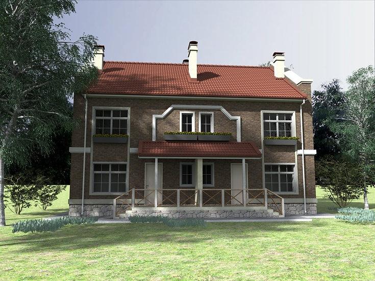 Двухквартирный жилой дом 0128