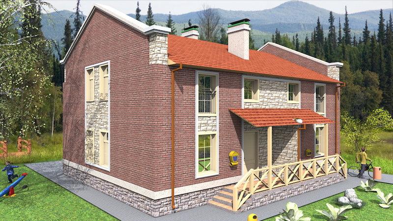 Двухквартирный жилой дом 0175