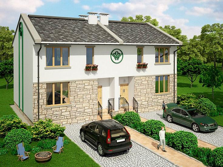 Проект двухквартирного жилого дома 0117
