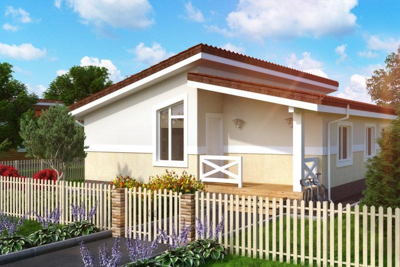 Проект одноэтажного жилого дома 0397
