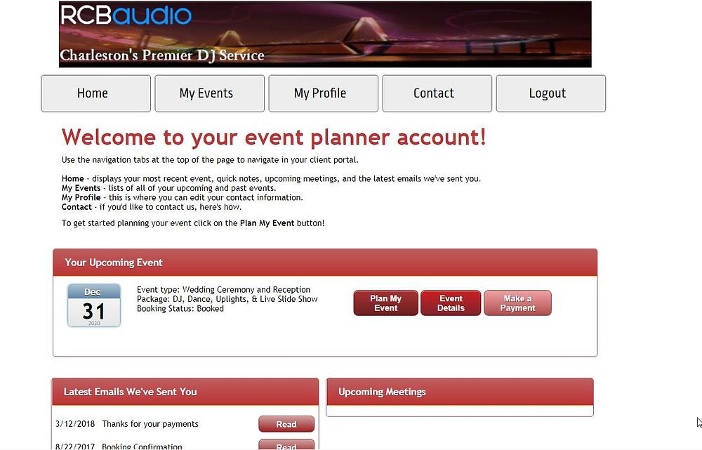 Planning Landing Page