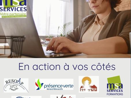 MSA Services & ses associations, en action à vos côtés