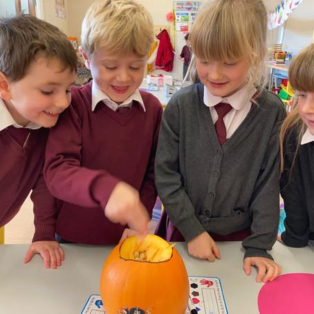 Pumpkin Carving in Junior Infants