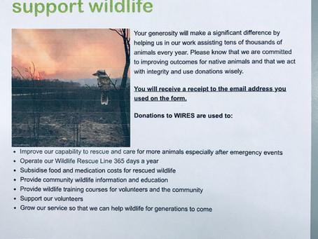 Donation to the Australian Wildlife Rescue Organisation