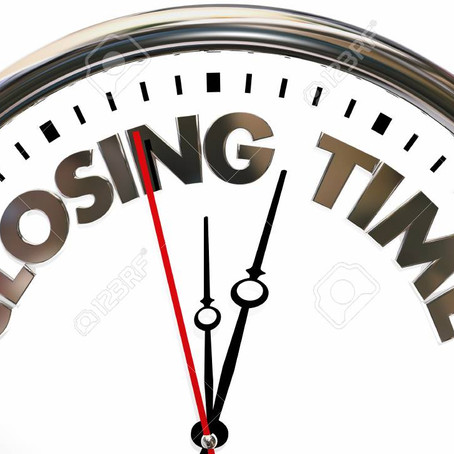 Closing Times Wednesday 30th June