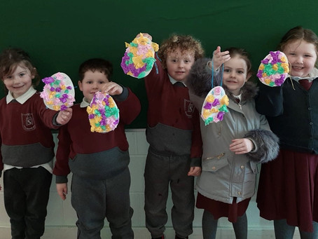 Easter Art in Ms Spruhan's Junior Infants