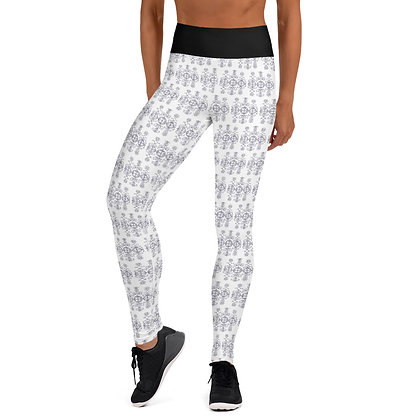 Marassa Veve Black and White Pattern Athletic Leggings by Kolektif 509 Apparel