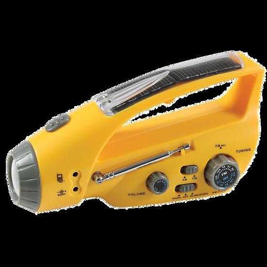 Solar/Wind Up Flashlight with Radio