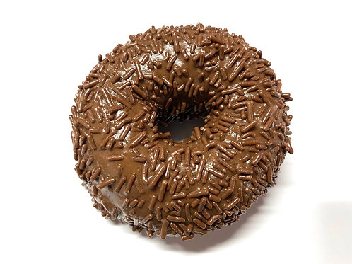 Chocolate Frosted w/ Chocolate Sprinkles