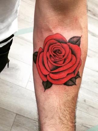 Colour Rose Tattoo