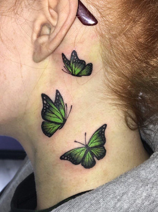 Colour Butterfly Tattoo