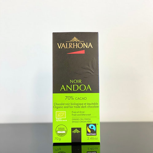 Tablette de chocolat noir bio - Valrhona