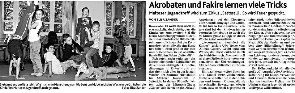 Clown zauberer mitspielzirkus ferienspiele Baesweiler