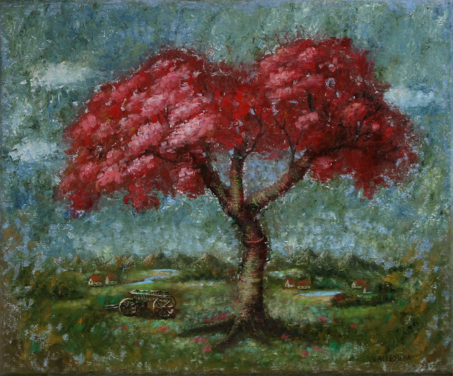 ''Blooming pomegranate tree'' (2021)