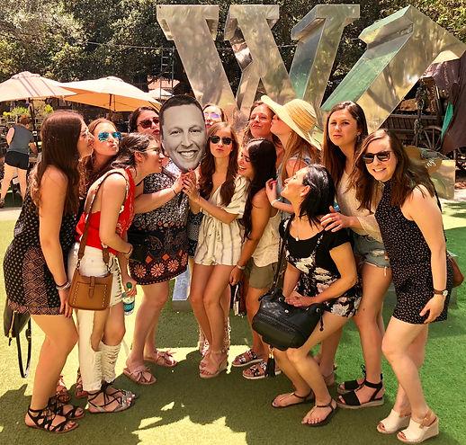 Malibu wine tour party