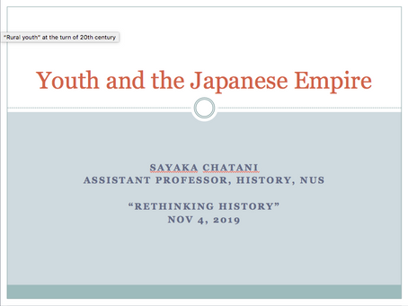 Re-thinking History: Singapore and Global History